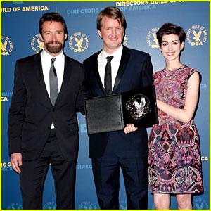 Anne Hathaway & Hugh Jackman - DGA Awards 2013