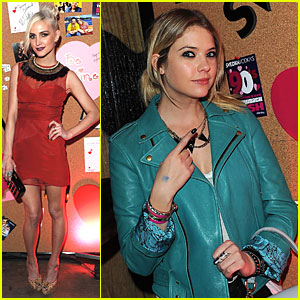 Ashlee Simpson & Ashley Benson: Throwback Valentine's Day Bash!