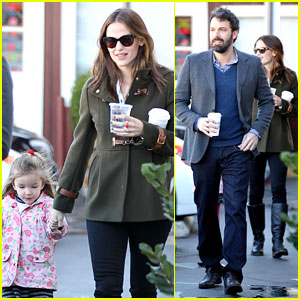 Ben Affleck & Jennifer Garner: Breakfast with Seraphina!