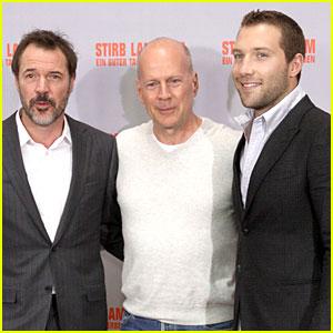 Bruce Willis & Jai Courtney: 'Die Hard' Berlin Photo Call!