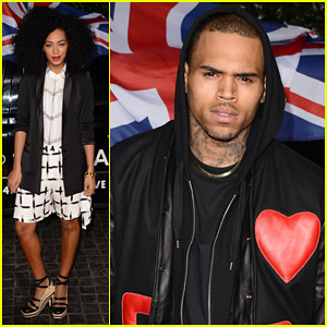 Chris Brown & Solange Knowles: Topshop Topman LA Opening Party | Chris