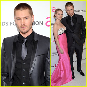 Chad Michael Murray: Elton John Oscars Party With Kenzie Dalton!