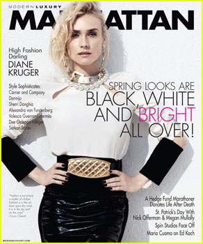 Diane Kruger Covers 'Manhattan' Magazine March 2013