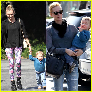 Diane Kruger: Houston's Lunch with January Jones & Xander!