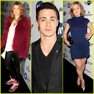 Ellen Pompeo &#038; Julia Stiles: Warner Music Grammys Party!