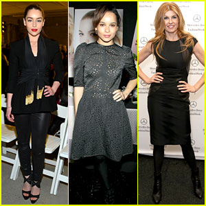 Emilia Clarke, Zoe Kravitz, & Connie Britton: Fashion Week Fun!