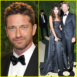 Gerard Butler & Madalina Ghenea - Vanity Fair Oscars Party