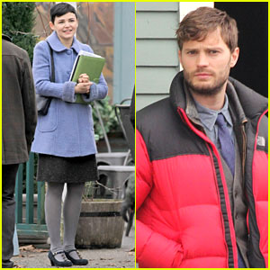 Ginnifer Goodwin & Jamie Dornan: 'Once Upon a Time' Set!