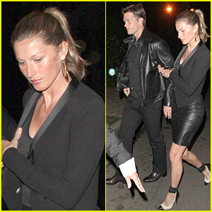 Gisele Bundchen & Tom Brady: Pre-Oscar Party in Brentwood!