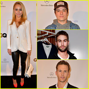 Hayden Panettiere & Josh Hutcherson: Super Bowl Party!