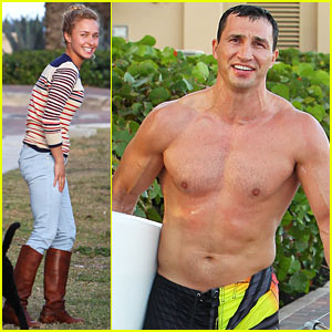 Hayden Panettiere: Miami Beach Day with Shirtless Wladimir Klitschko