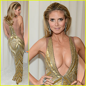 Party Dress on Heidi Klum     Elton John Oscars Party 2013   2013 Oscars  Heidi Klum