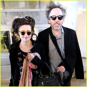 Helena Bonham Carter & Tim Burton Arrive for Oscars Week!