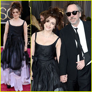 Helena Bonham Carter &#038; Tim Burton - Oscars 2013 Red Carpet