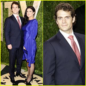 Henry Cavill & Gina Carano - Vanity Fair Oscars Party 2013
