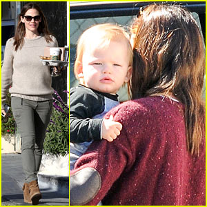 Jennifer Garner: Samuel's Pre-Birthday Brentwood Lunch!