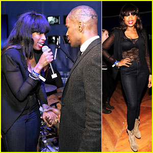 Jennifer Hudson: Super Bowl Party 2013 with Jamie Foxx!