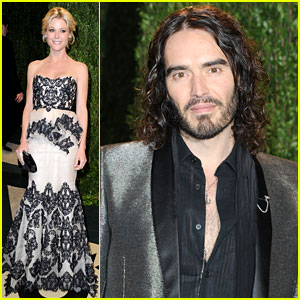 Julie Bowen & Russell Brand - Vanity Fair Oscars Party 2013