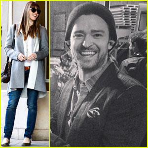 Justin Timberlake Joins Instagram, Jessica Biel Dines with ... Jessica Biel Instagram