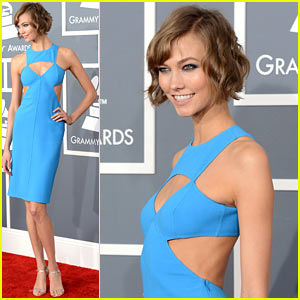 Karlie Kloss - Grammys 2013 Red Carpet