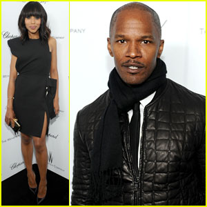 Kerry Washington & Jamie Foxx: Weinstein Pre-Oscars Party 2013