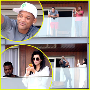 Kim Kardashian &#038; Kanye West: Balcony Fun with Will Smith!