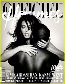 Kim Kardashian: Nude with Kanye West for 'L'Officiel Hommes'!