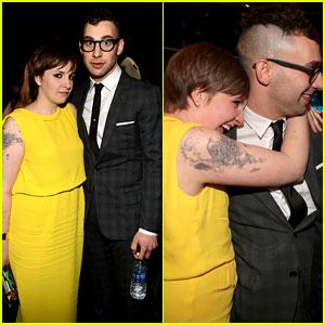 Lena Dunham & Jack Antonoff - Grammys 2013 Couple!