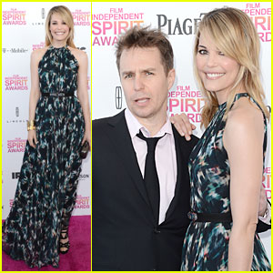 Leslie Bibb &#038; Sam Rockwell - Independent Spirit Awards 2013