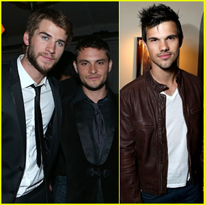Liam Hemsworth & Taylor Lautner: Grey Goose Pre-Oscars Party