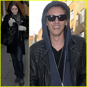 Lily Collins &#038; Jamie Campbell Bower: London Lovebirds!