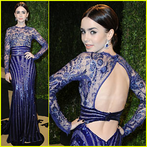 Lily Collins - Vanity Fair Oscars Party 2013