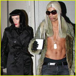 Madonna: Kabbalah Costume Party with Shirtless Brahim Zaibat!