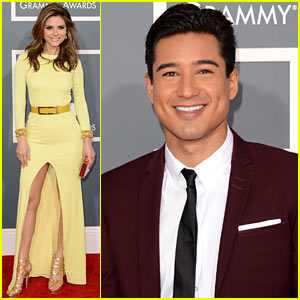 Mario Lopez & Maria Menounos - Grammys 2013 Red Carpet