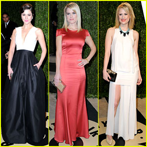 Mary Elizabeth Winstead & Alice Eve - Vanity Fair Oscars Party 2013
