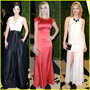 Mary Elizabeth Winstead & Alice Eve - Vanity Fair Oscars Party 2013