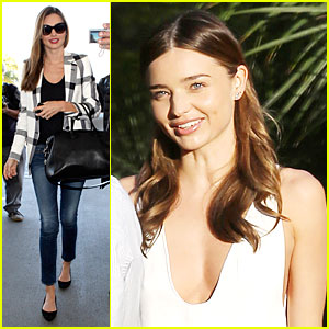 Miranda Kerr: Plaid Flight After the Oscars!
