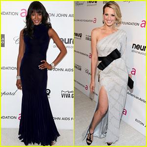 Naomi Campbell & Petra Nemcova - Elton John Oscars Party 2013