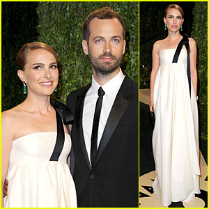 Natalie Portman & Benjamin Millepied - Vanity Fair Oscar Party 2013