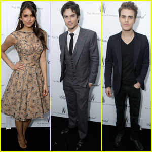 Nina Dobrev & Ian Somerhalder: Weinstein Pre-Oscars Party with Paul Wesley!