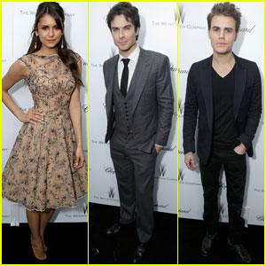 Nina Dobrev & Ian Somerhalder: Weinstein Pre-Oscars Party with Paul Wesley!
