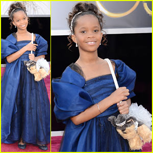 Quvenzhane Wallis - Oscars 2013 Red Carpet