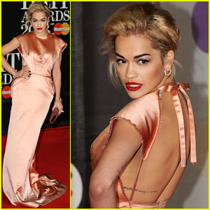 Rita Ora - BRIT Awards 2013 Red C