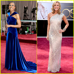 Robin Roberts & Lara Spencer - Oscars 2013 Red Carpet