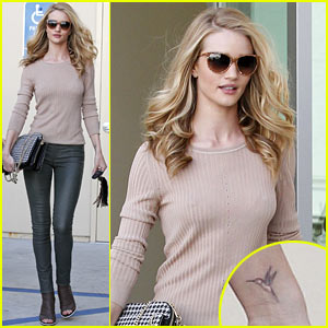 Rosie Huntington-Whiteley: New Hummingbird Tattoo!