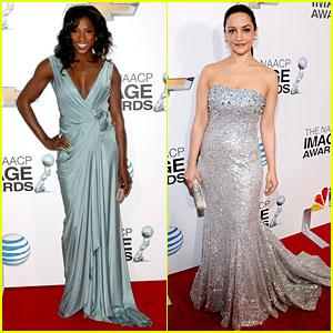 Rutina Wesley & Archie Panjabi - NAACP Image Awards 2013