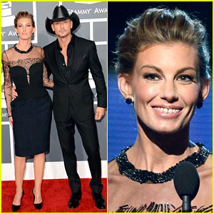 Tim McGraw &#038; Faith Hill - Grammys 2013 Red Carpet