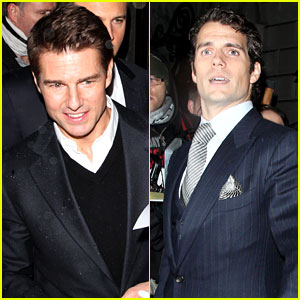 Tom Cruise & Henry Cavill: Pre-BAFTA Dinner in Lond