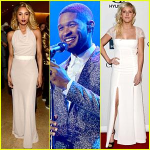 Usher, Ciara, & Ellie Goulding - Clive Davis Pre-Grammy Party!