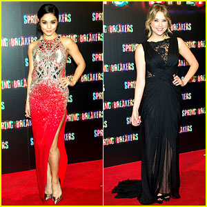 Vanessa Hudgens & Ashley Benson: 'Spring Breakers' Madrid Premiere!